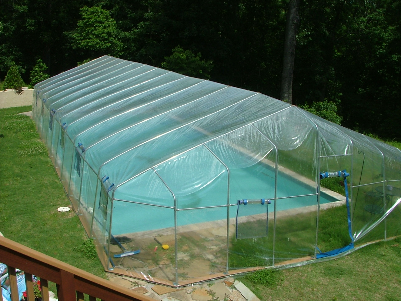 Fabrico sun dome prices complete kits and replacement covers for Inground pool enclosure prices